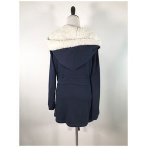 Anthropologie Jackets & Coats - Saturday Sunday Jacket M Fleece Lined Hood Blue